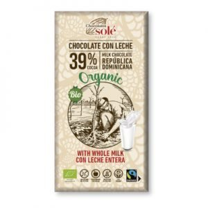 Chocolate con Leche entera 39 % 100g BIO