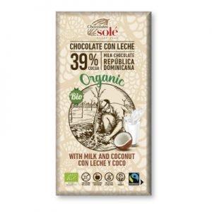 Chocolate con Leche y Coco 100g BIO